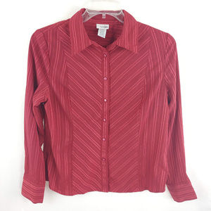 3/$25 East 5th Long Sleeve Button Front Blouse